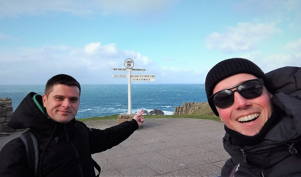 Coastal Road Trip, Land's End, Sign post, Julian, Jarno
