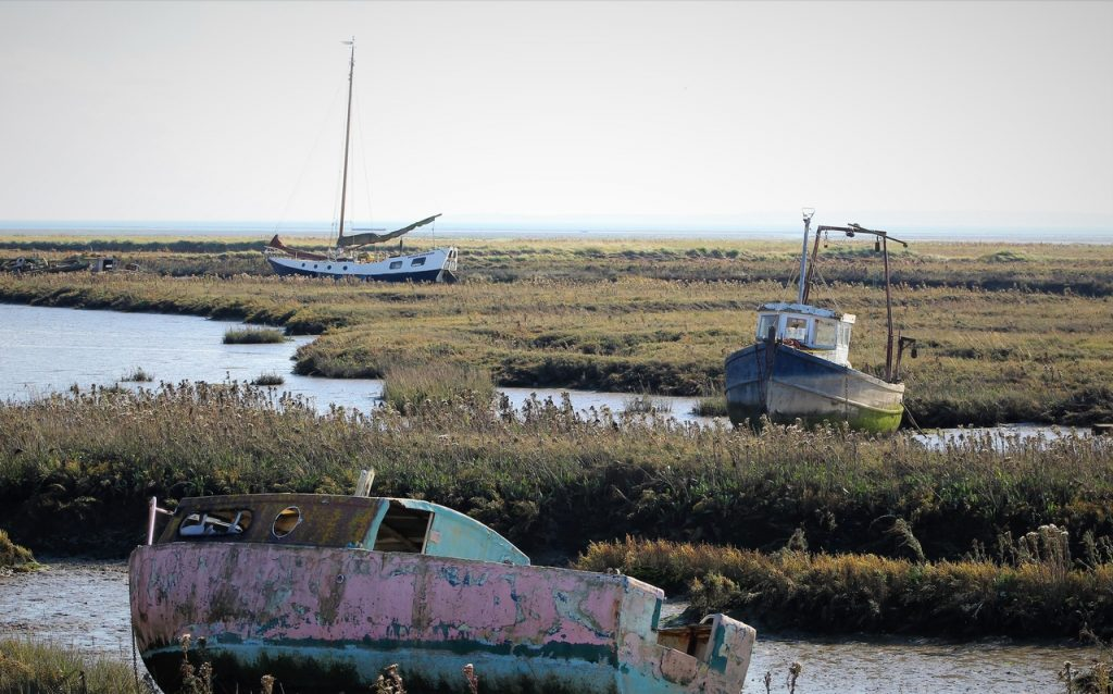 Coastal Road Trip, Leigh-on-Sea, Leigh Marshes, Boats, Thames Estuary