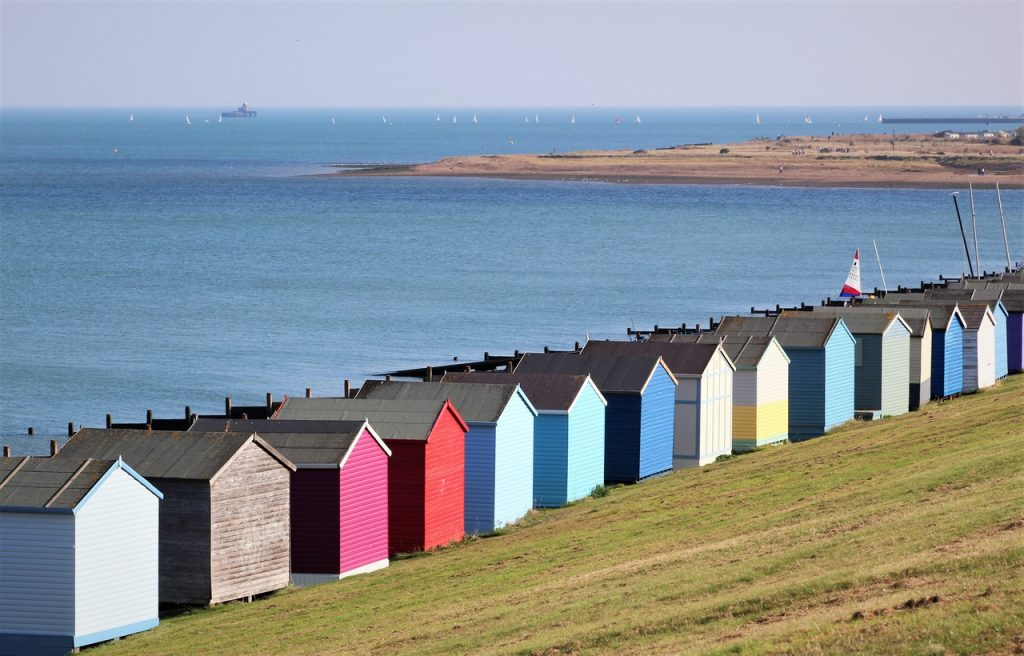 Coastal Road Trip, Whitstable, Tankerton Slopes, Beach Huts