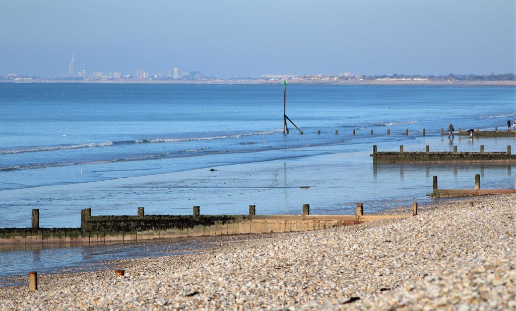 Coastal Road Trip, East Whitering, Beach, View to Porstmouth, Bracklesham Lane, Bracklesham Bay