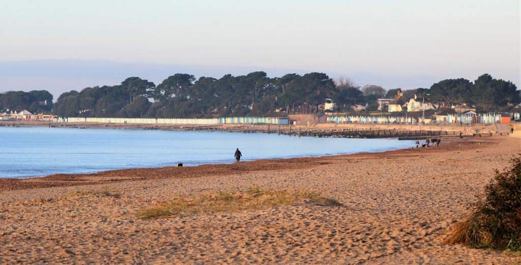 Coastal Road Trip, Highcliffe, Beach, View to Avon Beach, Steamer Point Nature Reserve
