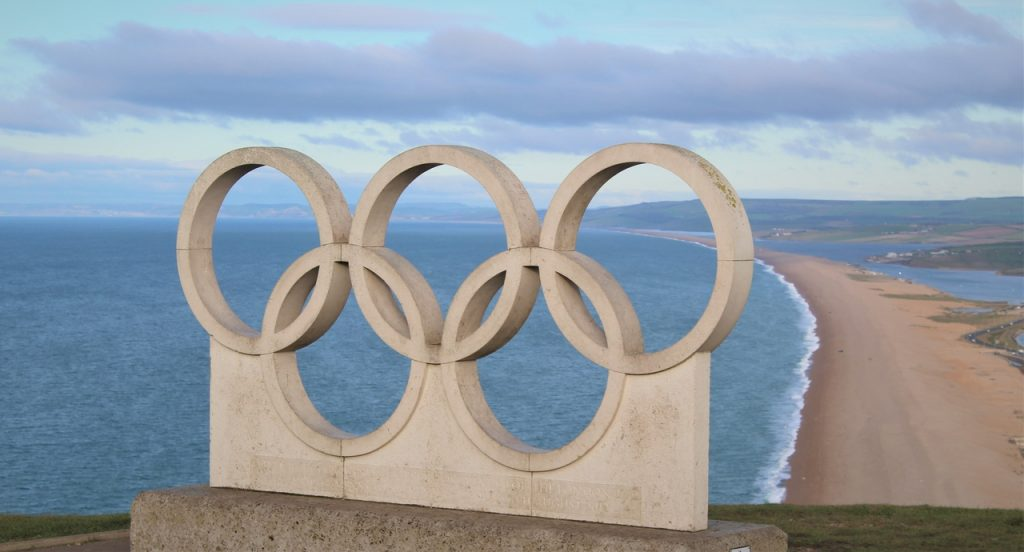 Coastal Road Trip, Isle of Portland, Olympic Rings, The Olympic Rings Stone Sculpture