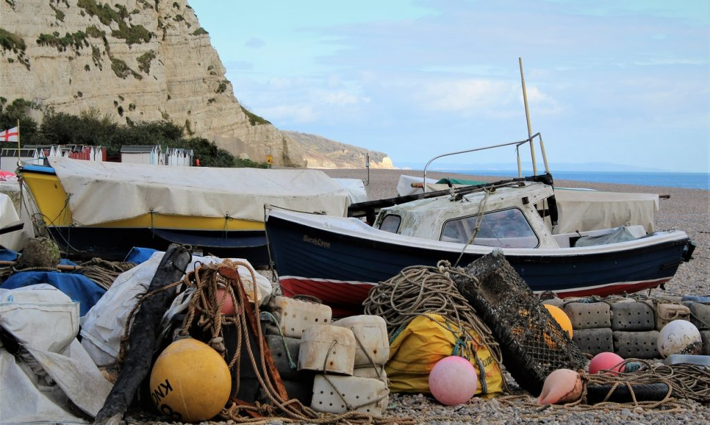 Coastal Road Trip, Beer, Beach, Dorset, Fishing Boats, Cliffs