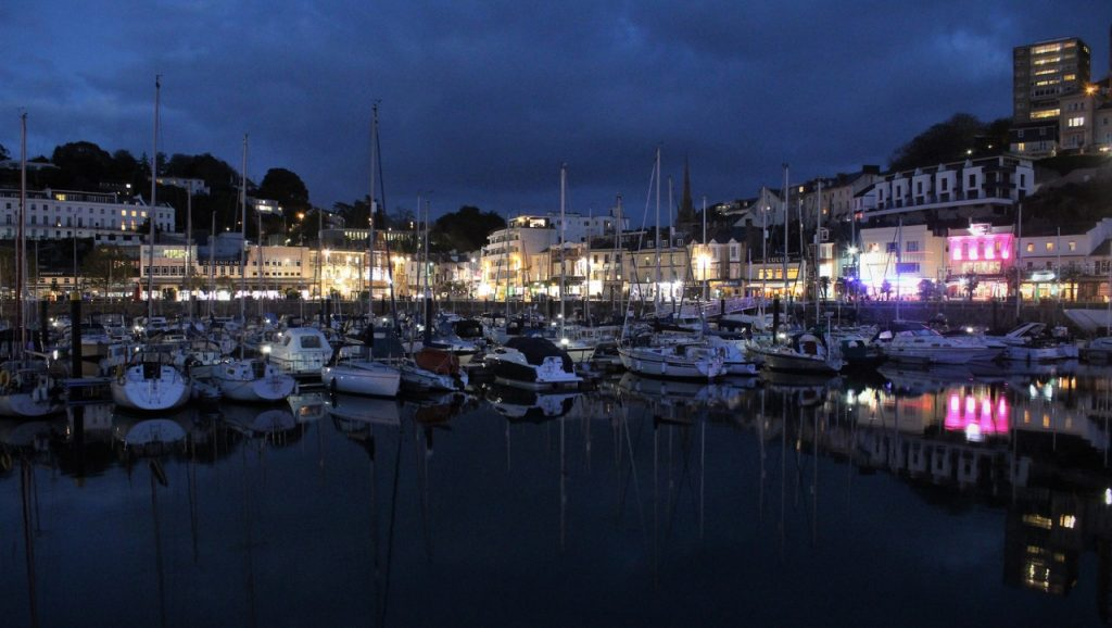 Coastal Road Trip, Torquay, Harbour, Night, Boats, Reflection