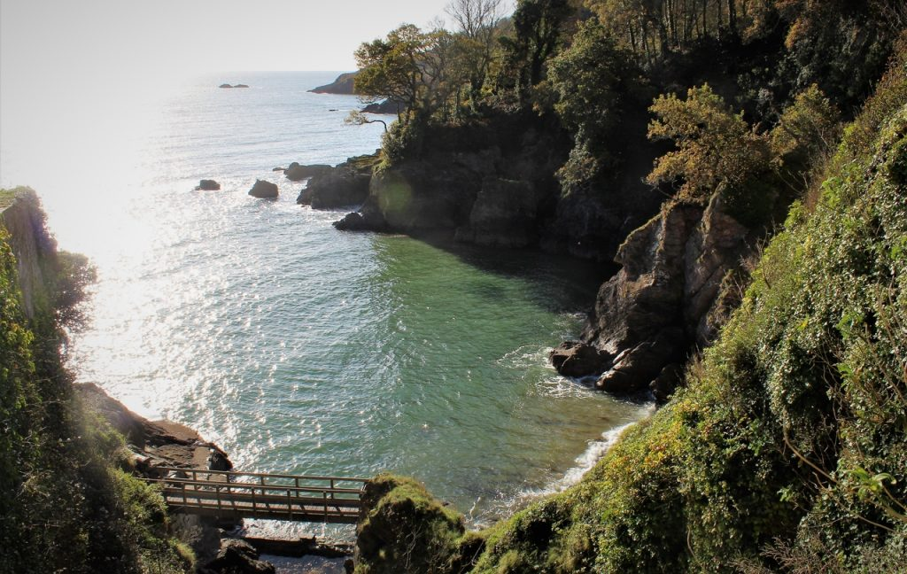 Coastal Road Trip, Castle Cove, Dartmouth Castle, Devon, Bridge