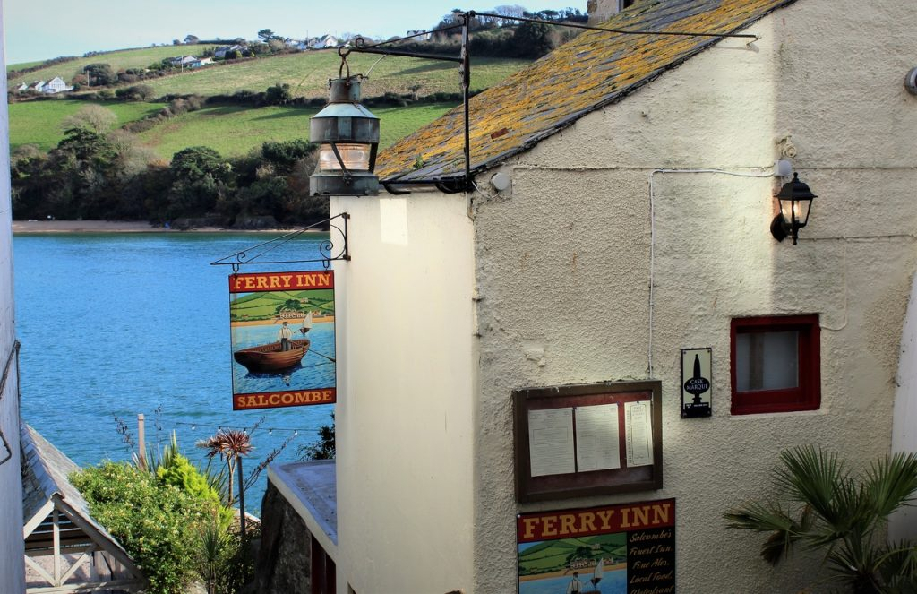 Coastal Road Trip, Salcombe, Ferry Inn, Pub, Devon