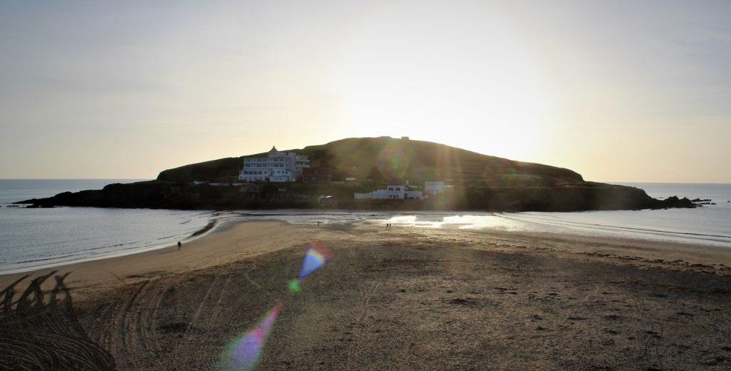 Coastal Road Trip, Burgh Island, Hotel, Agatha Christie, Sunset, Bigbury Beach, Pilchard Inn