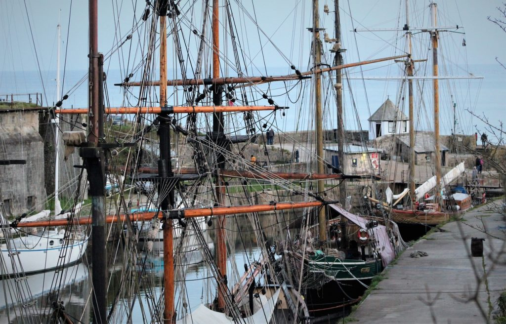 Coastal Road Trip, Charlestown, Tall Ships, Square Sail, Harbour