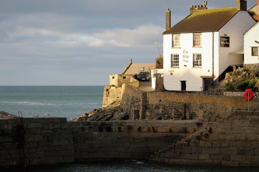 Coastal Road Trip, Portleven, Harbour, The Ship Inn, Breakwater, Cornwall