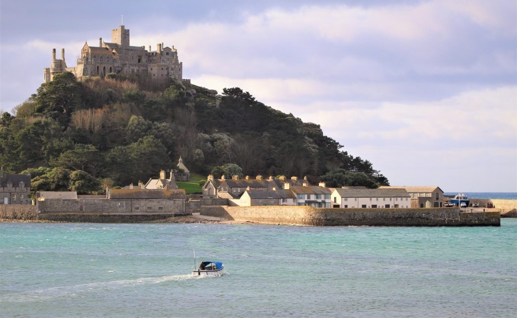 Coastal Road Trip, St Michael's Mount, National Trust, Ferry Boat, View from Marazion