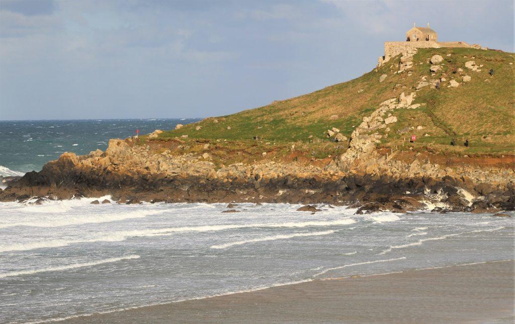 Coastal Road Trip, St Ives, Porthmeor Beach, St Nicholas Chapel