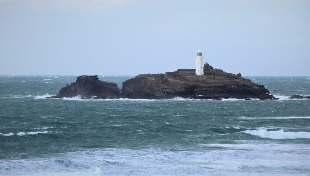 Coastal Road Trip, Godrevy Lighthouse, Island, Point, Gwithian Beach, St Ives Bay