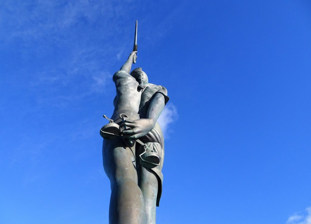 Coastal Road Trip, Ilfracombe, Damien Hirst, Verity, Bronze Sculpture, Back