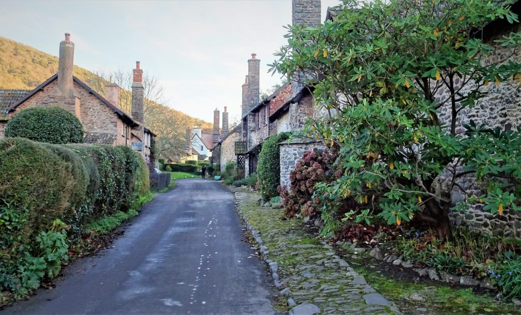 Coastal Road Trip, Bossington, Allerford, Holnicote Estate, Cottages, Tall Chimneys