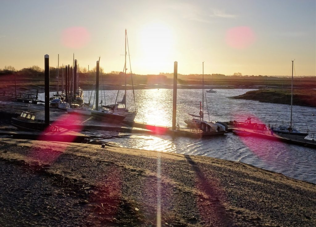 Coastal Road Trip, Burnham-on-Sea, Burnham on Sea Motor Boat and Sailing Club, River Brue, Sunrise