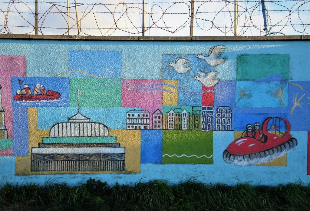 Coastal Road Trip, Burnham-on-Sea, Mural, Street Art, Seaside scene
