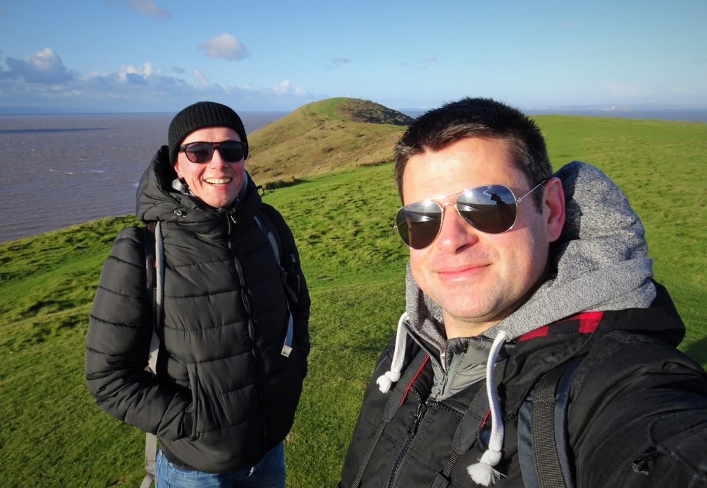 Coastal Road Trip, Brean Down, National Trust, Julian, Jarno, Bristol Channel, Windy