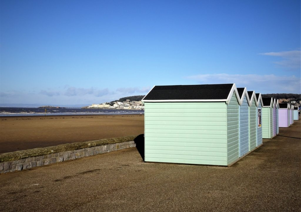 Coastal Road Trip, Weston-super-Mare, Royal Sands, Beach, Beach Huts