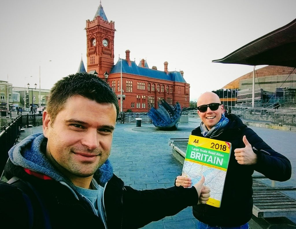 Coastal Road Trip, Cardiff, Wales, Pierhead, Senedd, Julian, Jarno, Map, Completed Road-trip!