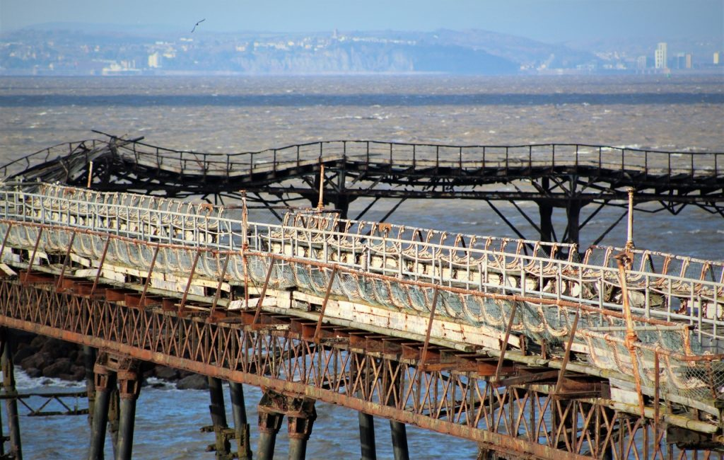 Coastal Road Trip, Weston-super-Mare, Birnbeck Pier, Abandoned, Close-up